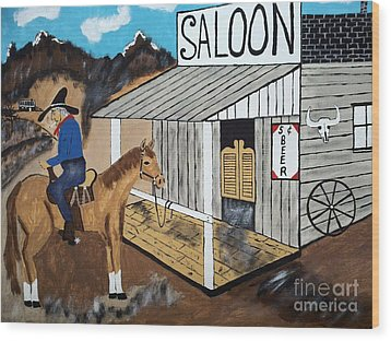 I Should Quit Drinking. Wood Print by Jeffrey Koss