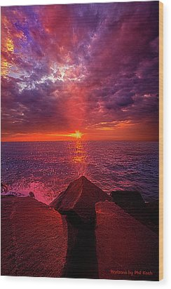Wood Print featuring the photograph I Still Believe In What Could Be by Phil Koch