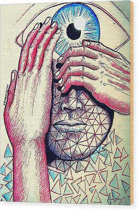 I Think The What I Think Others Also Are Thinking Wood Print by Paulo Zerbato