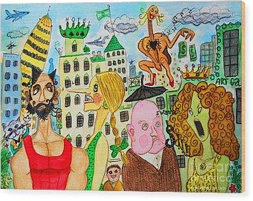 I Wanna Dineroh / I Wanna Money Wood Print by Don Pedro De Gracia