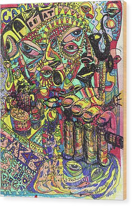 I Want To Be In That Number Wood Print by Robert Wolverton Jr