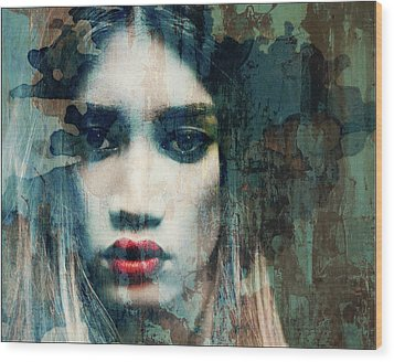 Wood Print featuring the mixed media I Want To Know What Love Is  by Paul Lovering