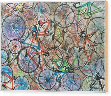 I Want To Ride My Bicycle Bicycle  Wood Print by Scott French