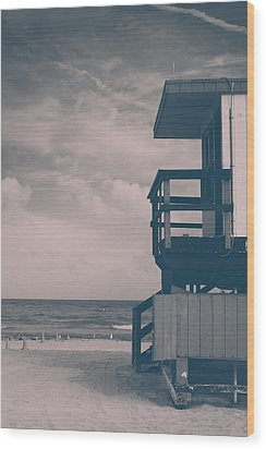 Wood Print featuring the photograph I Was Checkin' On The Surfin' Scene by Yvette Van Teeffelen