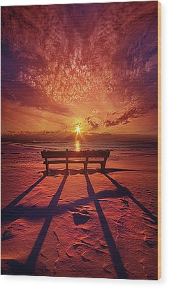 Wood Print featuring the photograph I Will Always Be With You by Phil Koch