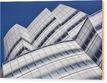Iac Building Wood Print by June Marie Sobrito
