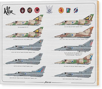 Iaf All Times Iai Kfir Wood Print