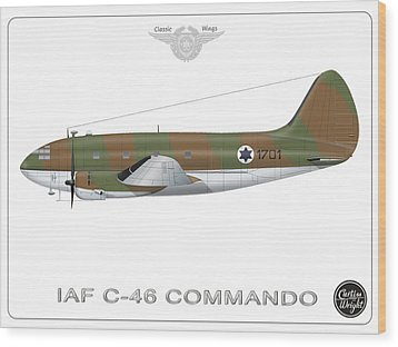 Iaf C-46 Commando Wood Print