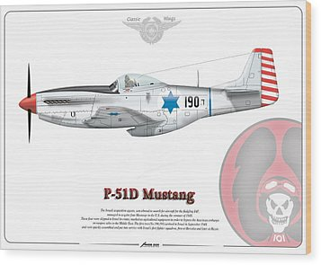 Iaf First P-51d Mustang Wood Print