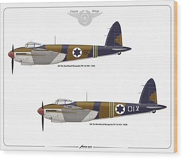 Wood Print featuring the digital art Iaf Mosquito 1 by Amos Dor