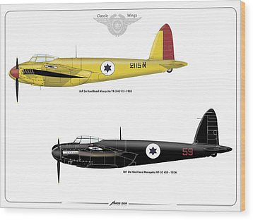 Wood Print featuring the digital art Iaf Mosquito Iv by Amos Dor