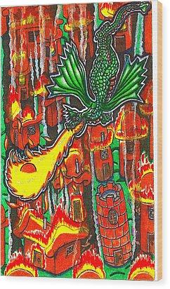 Iammyaza Attacks Tamarin Wood Print by Al Goldfarb
