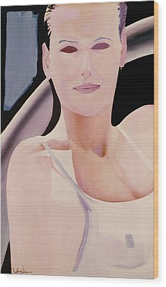 Ibiza Woman Number One Wood Print by Geoff Greene
