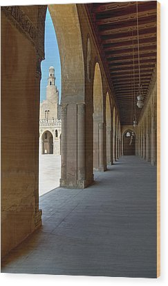 Ibn Tulun Great Mosque Wood Print by Nigel Fletcher-Jones
