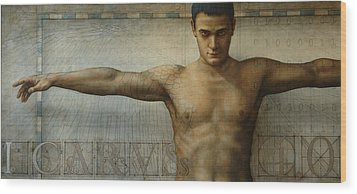 Icarus 4.0 Wood Print by Jose Luis Munoz Luque