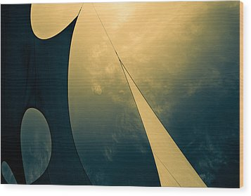 Icarus Journey To The Sun Wood Print by Bob Orsillo