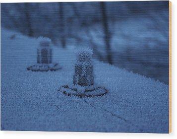 Ice Bolts Wood Print