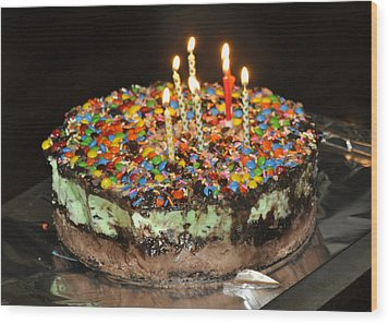 Ice Cream Cake Wood Print