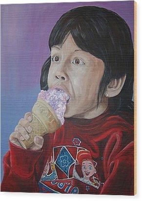 Ice Cream Wood Print