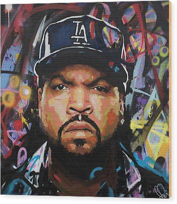 Wood Print featuring the painting Ice Cube by Richard Day
