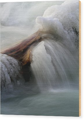 Wood Print featuring the photograph Ice Dam by Timothy McIntyre