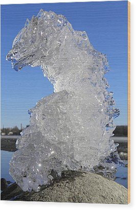 Wood Print featuring the photograph Ice Dragon by Sami Tiainen