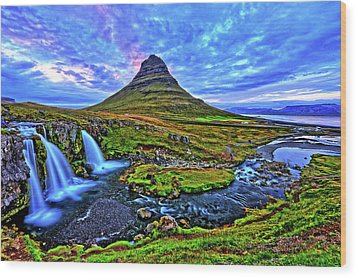 Wood Print featuring the photograph Ice Falls by Scott Mahon
