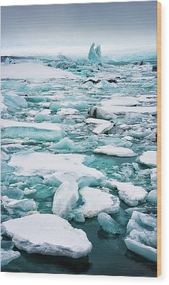 Wood Print featuring the photograph Ice Galore In The Jokulsarlon Glacier Lagoon Iceland by Matthias Hauser