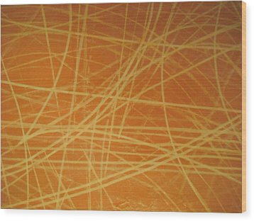 Ice Marks 2 Wood Print by Ken Yackel
