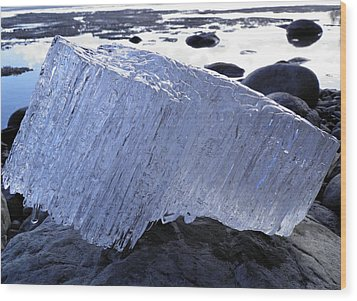Wood Print featuring the photograph Ice On Rocks 1 by Sami Tiainen