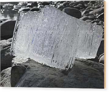 Wood Print featuring the photograph Ice On Rocks 2 by Sami Tiainen