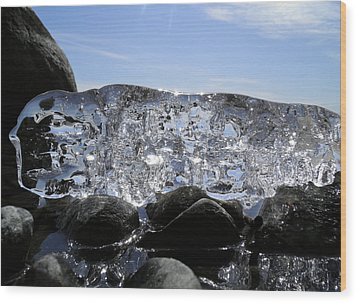 Wood Print featuring the photograph Ice On Rocks 3 by Sami Tiainen