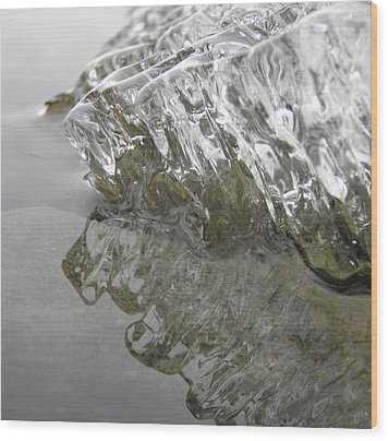 Wood Print featuring the photograph Ice On Water 1 by Sami Tiainen