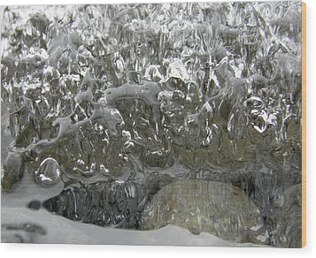 Wood Print featuring the photograph Ice On Water 2 by Sami Tiainen