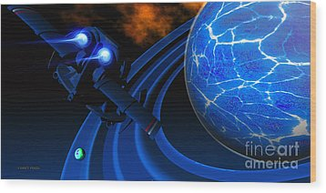 Ice Planet Wood Print by Corey Ford