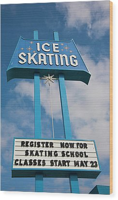 Wood Print featuring the photograph Ice Skating 2 by Matthew Bamberg