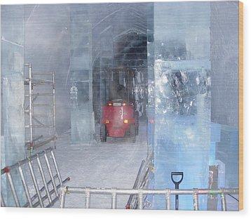 Ice Truck Wood Print by Maria Joy