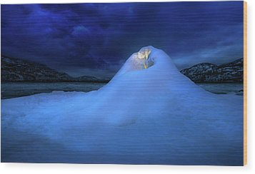 Wood Print featuring the photograph Ice Volcano by John Poon