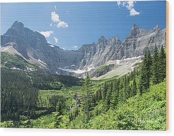 Iceberg Lake Trail - Glacier National Park Wood Print