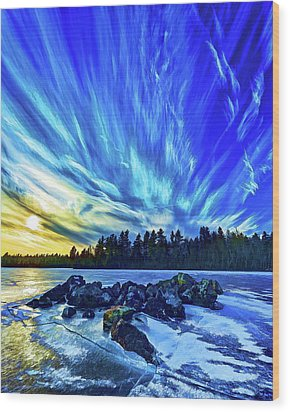 Icebound 3 Wood Print by ABeautifulSky Photography