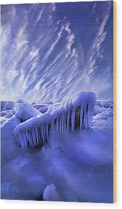 Wood Print featuring the photograph Iced Blue by Phil Koch