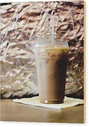Iced Coffee 2 Wood Print