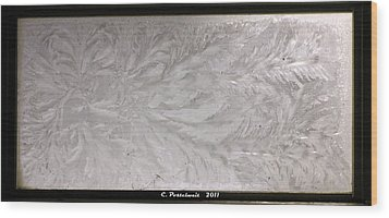 Iced Window Wood Print
