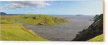 Iceland Landscape Near Vik Wood Print by Sergio Boccardo