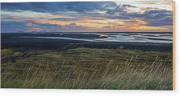 Wood Print featuring the photograph Icelandic Coast by Brad Scott