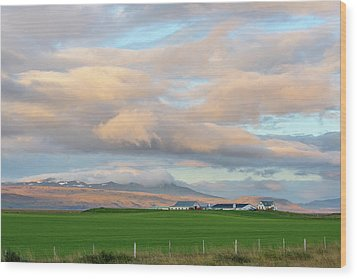 Wood Print featuring the photograph Icelandic Farmhouse by Brad Scott