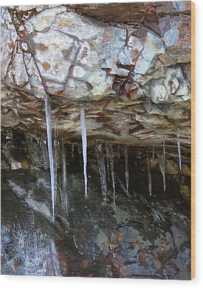 Wood Print featuring the photograph Icicle Art by Doris Potter