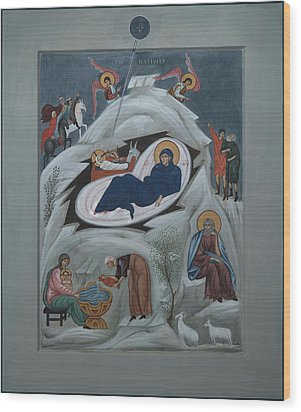 Icon Of The Nativity Of Christ Wood Print by Philip Davydov