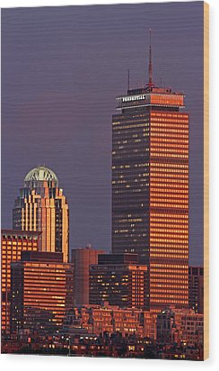 Wood Print featuring the photograph Iconic Boston by Juergen Roth