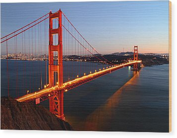 Iconic Golden Gate Bridge In San Francisco Wood Print